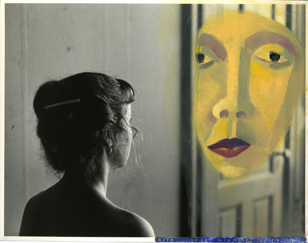Duane Michals, Esta Contemplates the Enigma, 1980. Courtesy of the artist and Jackson Fine Art.